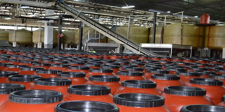 Άποψη από το εσωτερικό του εργοστασίου