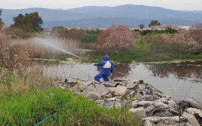 Συνεχίζονται οι εργασίες καταπολέμησης των κουνουπιών στη Δυτική Ελλάδα